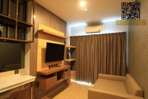 For RentCondoRatchathewi,Phayathai : Condo for rent, Lumpini Suite Din Daeng-Ratchaprarop [Lumpini Suite Dindaeng -atchaprarop] near BTS Victory Monument - Room size 28 sq. M. 18th floor, east - 1 bedroom, 1 bathroom, open kitchen - furniture fully Ready to move in